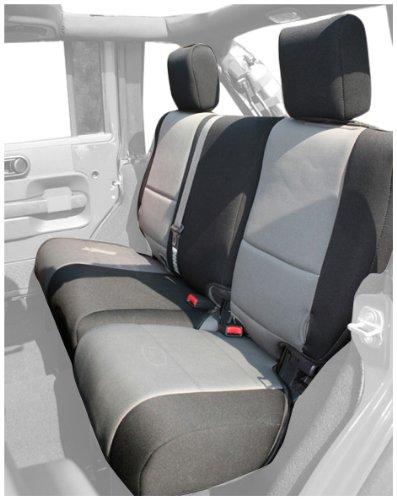 Rugged Ridge 13264.09 Black & Grey Custom Neoprene Rear Seat Cover
