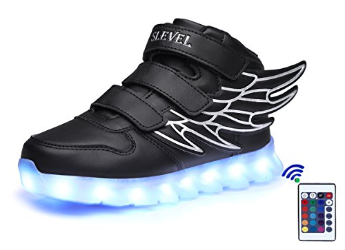 slevel-16-colors-led-light-up-shoes-usb-flashing-sneakers-for-kids-boys-girlsss999black37