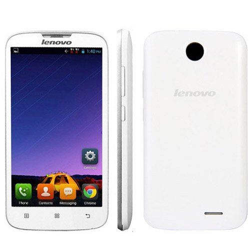 Lenovo A560 3G Unlocked Phone 5.0 inch Android 4.3 Qualcomm MSM 8212 1.2GHz Quad Core RAM 512MB ROM 4GB WCDMA & GSM Dual SIM (White)
