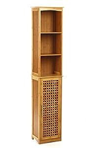 Meuble colonne de salle de bain bambou cuisine for Amazon meuble de salle de bain