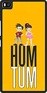 Dot Print Back Cover For Huawei P8 Ham Tum logo Printed Case