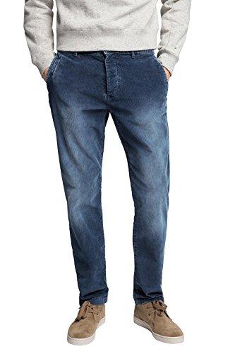 Esprit Cord Chino-Pantaloni Uomo,    Blu (Navy 400) 32/32