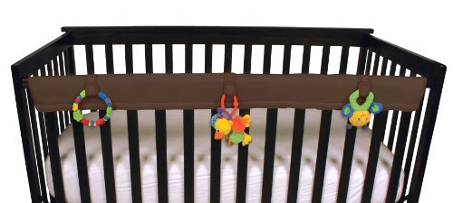 Leachco Easy Teether Soft & Padded Crib Rail Cover, Brown