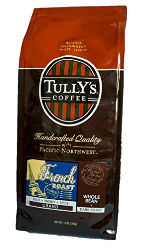 Tully's Coffee French Roast, Whole Bean, 12-Ounce Bags (Pack of 2) (Seattle Mountain French Roast compare prices)