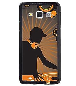 Printvisa Vector Dj View Back Case Cover for Samsung Galaxy E5::Samsung Galaxy E5 E500F