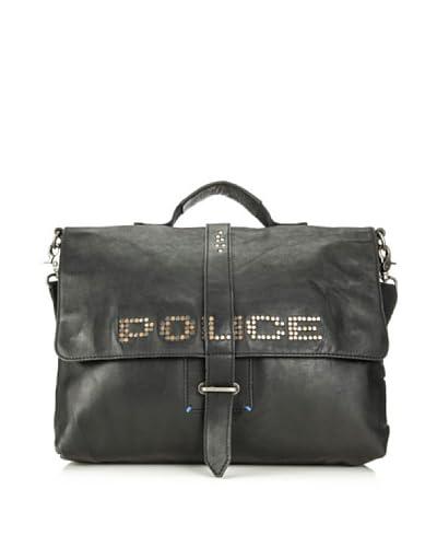 Police Cartella Studs [Nero]