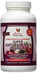 Activa Naturals Super Antioxidant Supplement, 120 Count