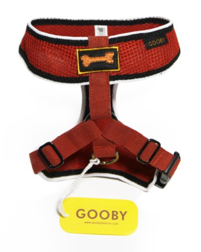 Gooby Sports Dog Harness, X-Small, Red