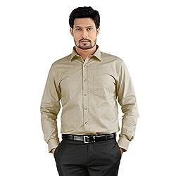 Sttoffa Solid Color Cotton Blend Formal Mens Wear Shirt
