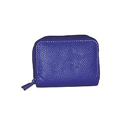 Buxton Womens Leather Mini Accordion Wizard Wallet, Liberty Purple