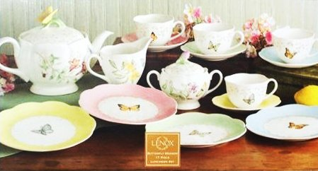Lenox Butterfly Meadow 17 Pc Luncheon Tea Set