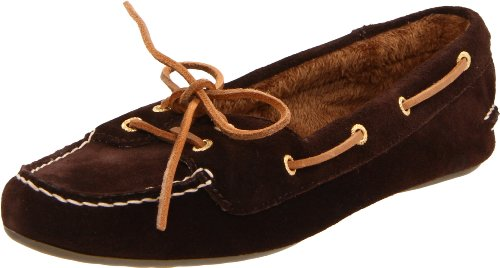 Sperry Top-Sider Skiff Lace Slipper - Women's Dark Brown Suede, 7.5