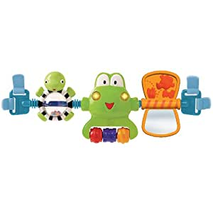 Bright Starts Hop Along Carrier Toy Bar - Neutral (Discontinued by Manufacturer)