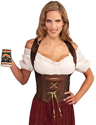 Brown Corset Top Adult Costume - Adult Std.