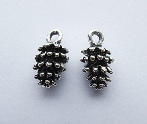10-x-pine-cones-christmas-3d-tibetan-silver-charms-pendants-beads