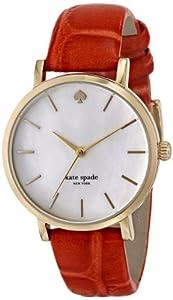 kate spade new york Women's 1YRU0533 Metro Analog Display Japanese Quartz Orange Watch