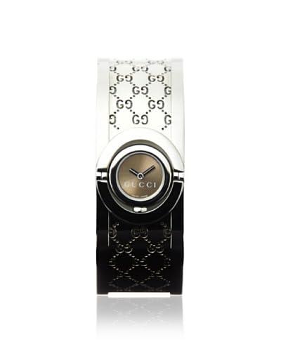 Gucci Women's YA112501 Twril Brown Stainless Steel Watch