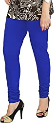 Red Chilli Women's Cotton Slim Fit Leggings (alg_035_rc, Free Size, Cobalt Blue)