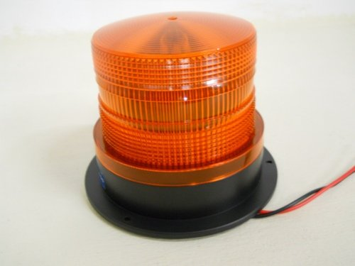 "Amber Led 5"" Strobe Beacon Safety Flasher Warning Light / Permanent Base Mount"