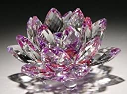 1 X 5\'\' Purple Color Delicate Decorative Crystal Lotus Flower by HP
