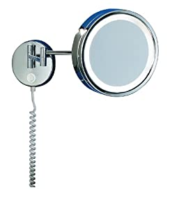 Trio 2614011-06 Wall Mirror Lights with Articulated Arm 1x16W T4 Mirror D: 22cm Chrome 3 x Magnification from Trio Leuchten