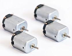 Science Wiz - DC Motors - Working Voltage Range .5 to 3.0V (Pack of 4)