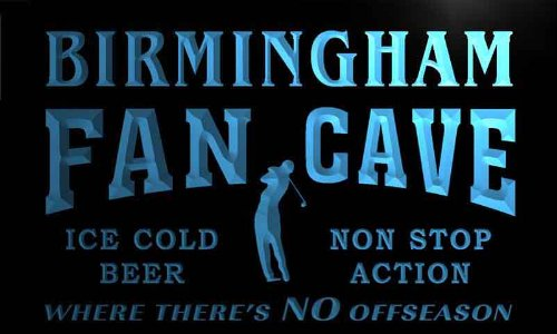Tf2147-B Birmingham Golf Fan Cave Man Room Bar Beer Neon Light Sign