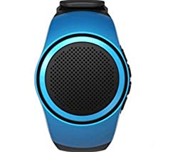 keewetech (TM) B20 Outdoor Sports MP3 Music Player Watch Portable Wireless Bluetooth Mini Speaker + Remote Control Selfie-timer + Phone Anti-lost + In-Built Mic - BLUE Colour by AE MOBILE ACCESSORIES