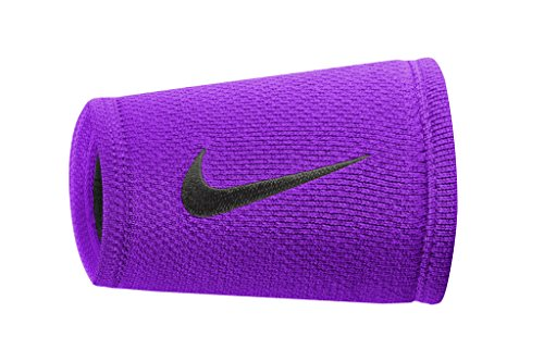 NIKE DRI-FIT STEALTH DOUBLEWIDE WRISTBANDS (COSMIC PURPLE/BLACK/BLACK) (Nike Power Band compare prices)