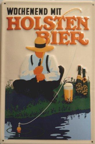 blechschild-nostalgieschild-holsten-bier-wochenend-hamburg-angler-schild-bierwerbung