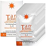 TanTowel The Exfoliating Towelette 3 in 1 Exfoliator, Buffer, Moisturizer 10 Towelettes