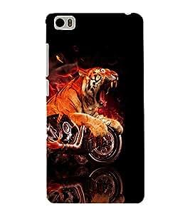 printtech Flaming Tiger Bike Back Case Cover for Xiaomi Redmi Mi5::Xiaomi Mi 5
