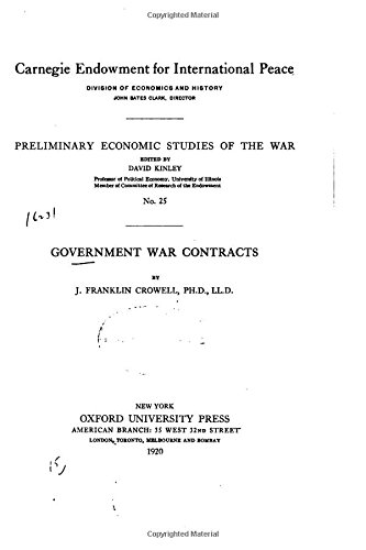 Government War Contracts