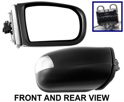 Power Smooth Black Mirror Passenger Side Right RH for 09-10 Subaru Forester