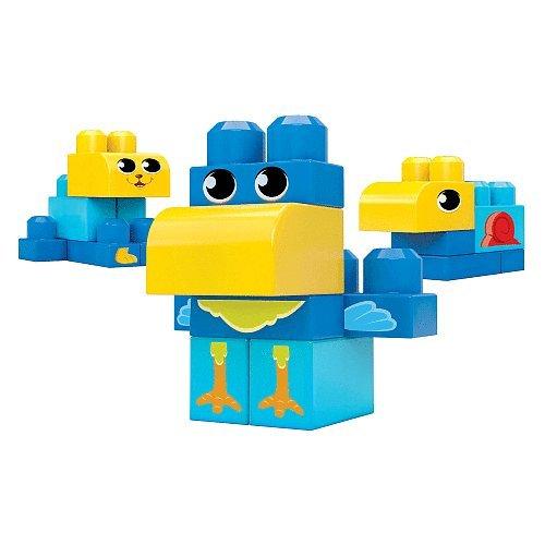 Mega Bloks First Builders 8 Piece Set Blue Blocks - 1