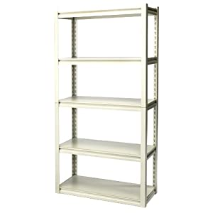 Gorilla Rack GRZR5-3012-5PCB 30 by 12 by 60-Inch Shelving Unit with 5-shelf, White