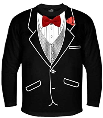 All Occasion Formal Tuxedo Long sleeve Shirt (Black) #9 (Mens X-Large)