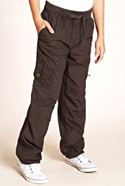 Pure Cotton Ribbed Waistband Straight Leg Cargo Trousers [T87-6279F-S]
