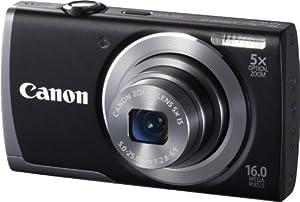 """Canon Powershot A3500 IS Appareil photo numérique 16 Mpix Ecran 7,5"""" USB WiFi Noir"""