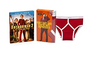 Anchorman 2: The Legend Continues (Blu-ray Combo Pack + Jockey Briefs Set) (Red)