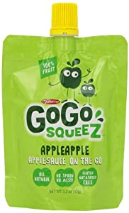 GoGo Squeez On the Go Apple Sauce, 20 Count, 3.2 ounces