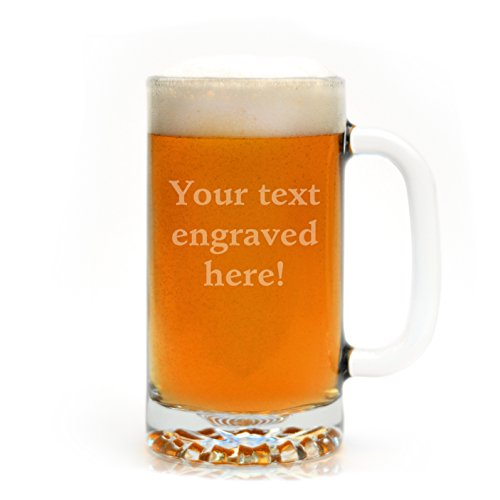 Personalized Beer Mug Engraved with Your Custom Text (Funny Beer Stein compare prices)