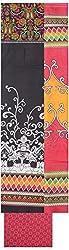 Shrumani Global Women's Cotton Unstitched Dress Material (SG008, Black & Pink)