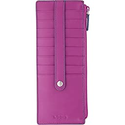 Lodis Audrey Credit Card Case with Zip Pocket - Fashion Colors (Plum/Indigo)