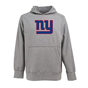 NFL Mens New York Giants Signature Hooded Sweatshirt by Antigua