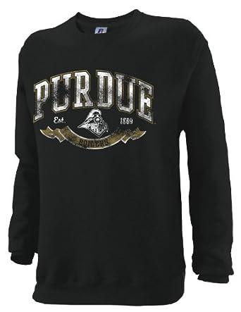 NCAA Purdue Boilermakers Mens Dri-Power Fleece Crew by Russell Athletic