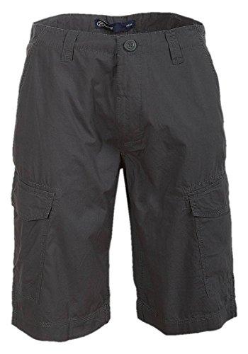 Hering da uomo elegante in cotone Cargo pantaloncini Grigio grigio chiaro