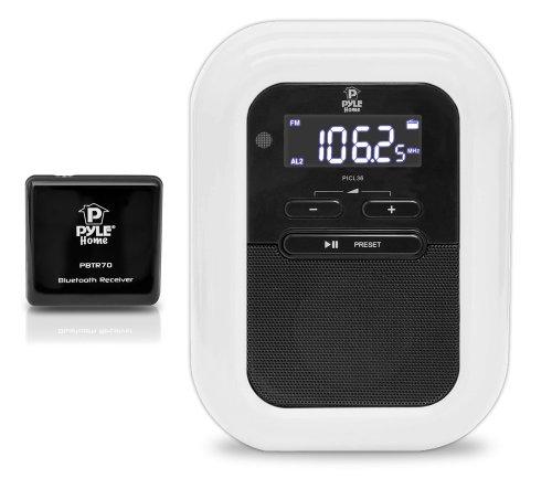 pyle plbacs bluetooth music streaming digital alarm clock and receiver system. Black Bedroom Furniture Sets. Home Design Ideas