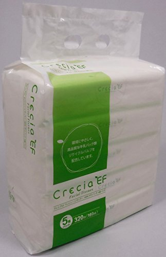 【業務用】 クレシア EFティシュー レギュラー ポリパック 320枚(160組)×5コパック