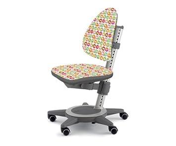 moll Kinderdrehstuhl Maximo Gestell weiß Sitzbezug Wonderland